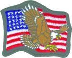 US FLAG WITH EAGLE (LARGE)