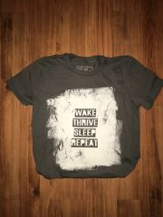 """Wake Thrive Sleep Repeat"" Unisex Charcoal"