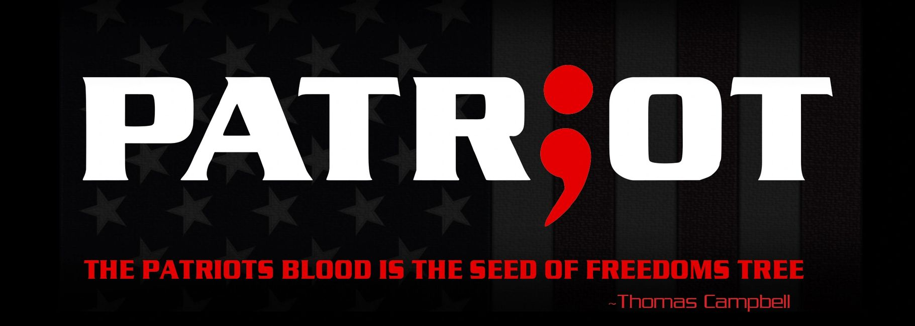 Patriots blood is the seed of freedoms tree.