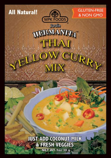 Hermanita Natural Thai Yellow Curry Mix - NEW - 6-pack