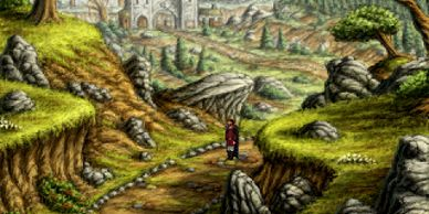 A mysterious man from the north arrives into a sleepy valley where  there is a little town. He is s