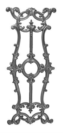 #(9618) Cast Iron Railing Panel - Back Out