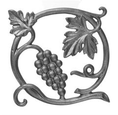 (#14) Cast Iron Vineyard Insert Rosette