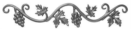 #(15-X) Cast Iron Vineyard Grape Valance