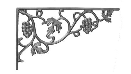 #(16) Cast Iron Vineyard Corner Casting / Bracket