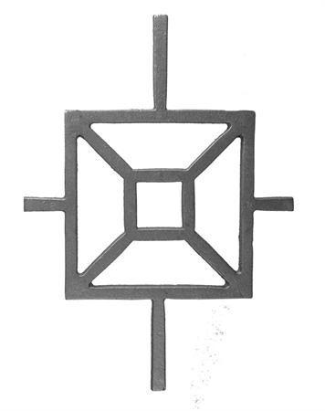 (#38) Modern Square Cast Iron Insert Panel