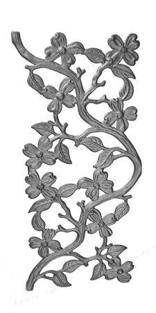 (#45) Dogwood Cast Iron Panel
