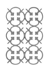 #(64) Cast Iron Modern Railing Panel