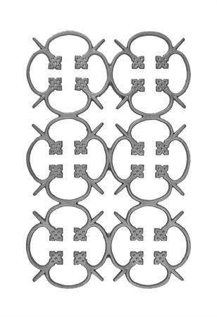 #(64) Cast Iron Modern Railing Panel