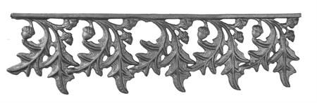 (#29-A) Water Oak Cast Iron Valance