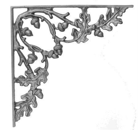 (#23-A) Curly Oak Cast Iron Corner Bracket