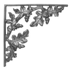 (#25) Curly Oak Cast Iron Corner Bracket