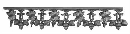 (#27-B) Curly Oak Cast Iron Valance