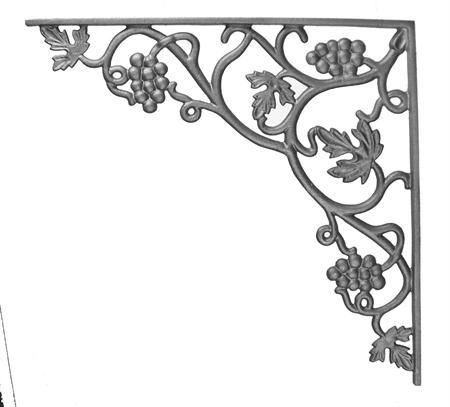 #(10-A) Cast Iron Vineyard Corner Casting / Bracket