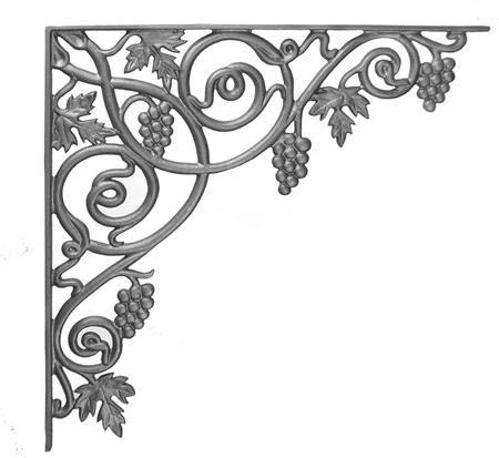 #(10) Cast Iron Vineyard Corner Casting / Bracket
