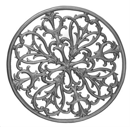 #(617) Cast Iron Florentine Rosette Circle / Insert - SF
