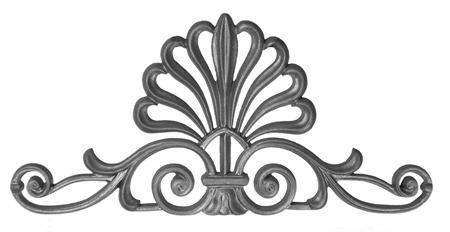 #(680) Cast Iron Doric Gate Crown / Panel - SF