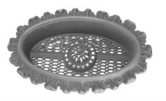 #(698) Cast Iron Victorian Recessed Foundation Vent