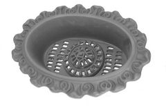 #(698-XS) Cast Iron Victorian Small Recessed Foundation Vent