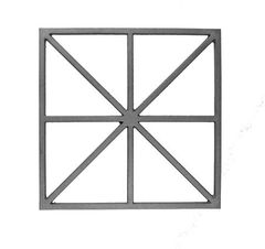 (#702) Cast Iron Modern Grate / Panel - SF