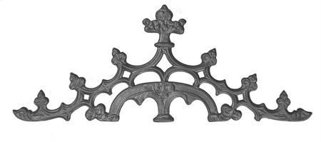 (#7214) Cast Iron Scout Crest Gate Top