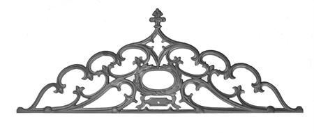 (#7215) Cast Iron Gate Crown / Panel