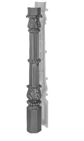 """#(8192) Cast Iron Roman Post 2pc / 1-1/4"""" ID"""
