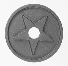#(8609) Cast Iron Earthquake Rosette Washer - SF