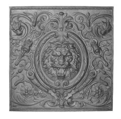 #(8654) Aluminum Lion's Head Centerpiece Insert - Back Out