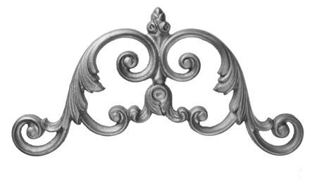 #(9350) Cast Iron Scroll Accent Insert - SF