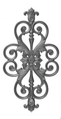#(9360) Cast Iron Insert Panel - SF