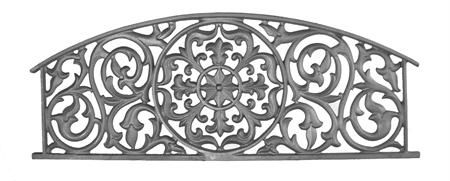 #(9414) Cast Iron Decorative Headboard Panel - SF