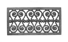 #(9476) Cast Iron Grille Panel / Insert - SF