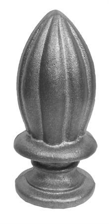 #(9516) Cast Iron Spear Finial / Solid Base 1""