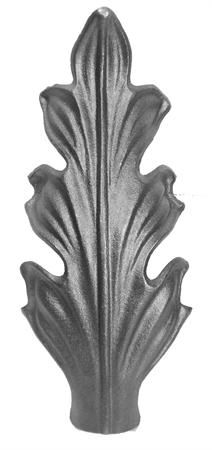 #(9528) Cast Iron Curved Acanthus Leaf