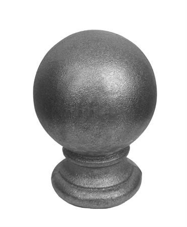 "#(9536) Cast Iron Finial Ball Top 1/2"""