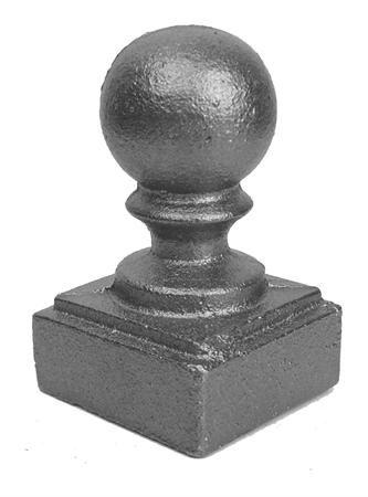 "#(PBC108) Cast Iron Newel Post Ball Cap 1"""