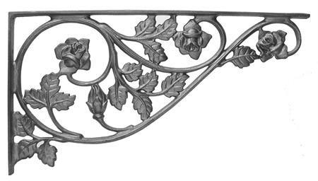 #(70) Crown Rose Corner Casting