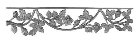 #(73) Cast Iron Crown Rose Valance