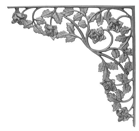 #(75-B) Cast Iron Rose Corner Casting / Bracket