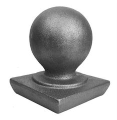 #(123) Decorative Cast Iron Post Ball Cap 4""