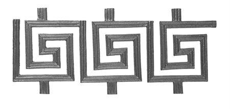 #(8311) Cast Iron Modern Frieze Panel