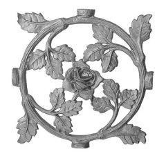 (#77) Decorative Rose Rosette / Insert