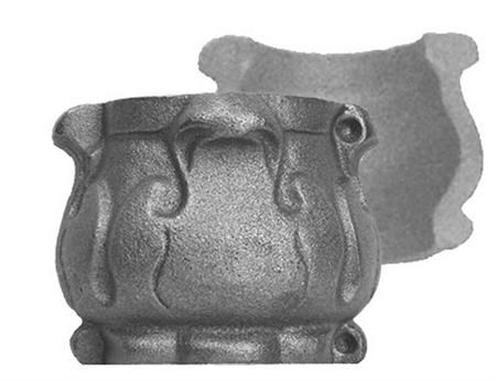 "#(6006) Decorative Cast Iron Collar 2pc / 2-5/8"" ID"