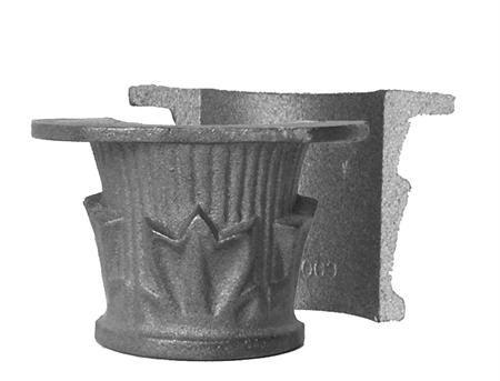 "#(6001) Decorative Cast Iron Collar 2pcs / 2-1/2"" ID"