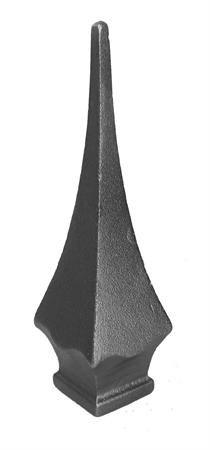 "#(671-XL) Cast Iron Spear Finial 1"""