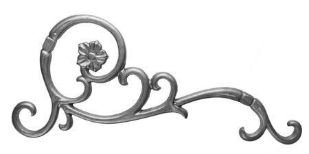 #(9140) Cast Iron Bell Flower Corner Casting