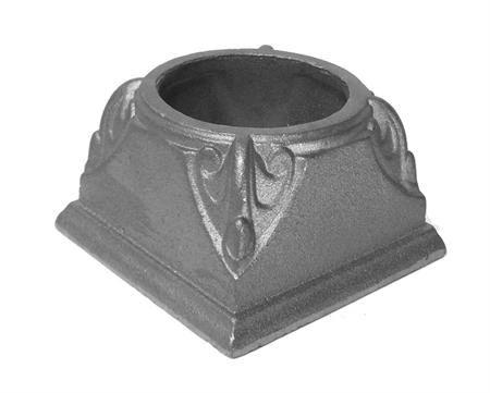 "#(9103) Cast Iron Decorative Base 3-1/2"""