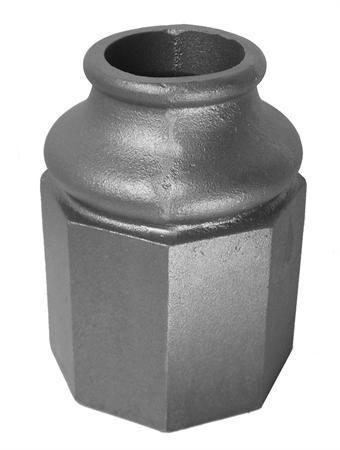 "#(8397) Cast Iron Decorative Octagon Base 3"""