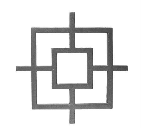 #(38-SQ) Cast Iron Modern Square Insert Casting